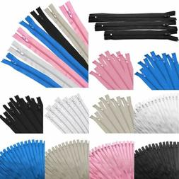 """50pc Nylon Coil Closed End Zippers 9"""" 12"""" 16"""" Tailor Sewer C"""