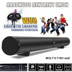 50W Home Cinema System Bluetooth Speaker Sound Bar w/ Remote
