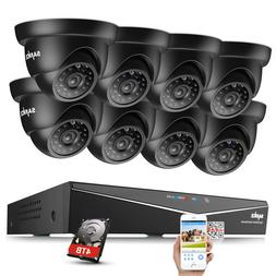 SANNCE 5in1 1080P HDMI 8CH DVR 1500TVL 720P IR CCTV Security