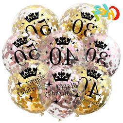5pcs 12 <font><b>Inch</b></font> Confetti Balloons Latex Gol
