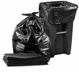 65 Gallon Trash Bags for Toter,  Large Black Garbage Bags, 5