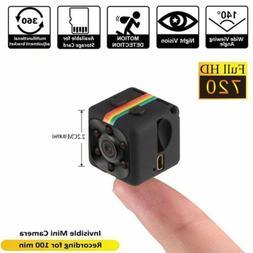 720P 140 ° Night Vision Camcorder Hidden Spy Camera Car DVR