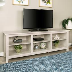 75 Inch long TV Stand Table White Modern Living Room Low Pro