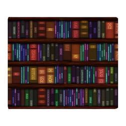 """CafePress - Old Bookshelves - Soft Fleece Throw Blanket, 50"""""""