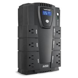 CyberPower CP600LCD Intelligent LCD UPS System, 600VA/340W,