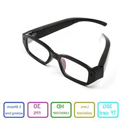 EOVAS Glasses Camera 720P Camcorder Glasses Video Eyewear Dv