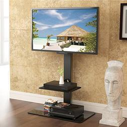 FITÜEYES Fitueyes Floor tv Stand with Mount Two Shelves for