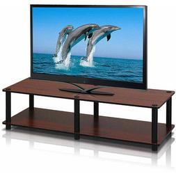 Furinno 11175DC/BK Just No Tools Dark Cherry Wide Television