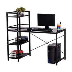 "HOMCOM 50"" Multi Shelf Tower Office Workstation Computer Des"