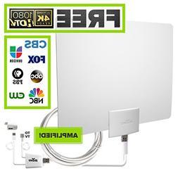 Mohu Leaf 50 Indoor HDTV Antenna, Amplified, 60 Mile Range,
