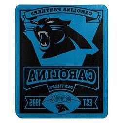 NFL Carolina Panthers Marque Printed Fleece Throw, 50-inch b