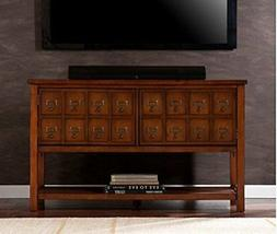 Southern Enterprises Apothecary Console/TV Stand - Brown Mah