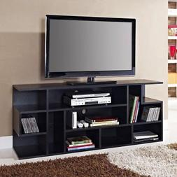 "WE Furniture 60"" Black Wood TV Stand Console"