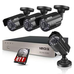 ZOSI 8CH Security Camera System HD-TVI Full 1080P Video DVR