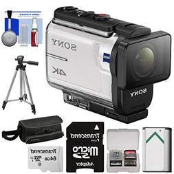 Sony Action Cam FDR-X3000 Wi-Fi GPS 4K HD Camcorder + 64GB C