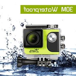 4K Action Camera, Ultra HD WiFi 30m Underwater Waterproof Ca