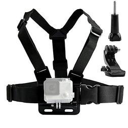 TEKCAM Adjustable Chest Harness Mount with J Hook Mount Comp