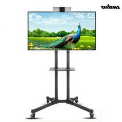 Adjustable TV Stand Mobile Cart Mount Wheels for Plasma 32-