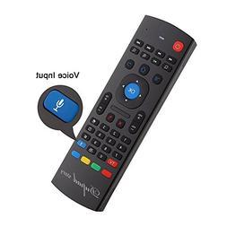 Dupadstory Voice Air Remote Mouse MX3 Pro,2.4G Backlit Kodi