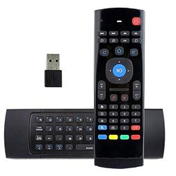 REDGO Air Mouse, 2.4G MX3 Portable Mini Wireless Qwerty Keyb