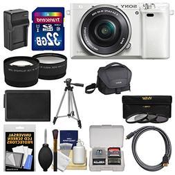 Sony Alpha A6000 Wi-Fi Digital Camera & 16-50mm Lens  with 3