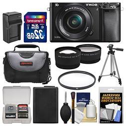 Sony Alpha A6000 Wi-Fi Digital Camera & 16-50mm Lens with 32