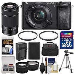 Sony Alpha A6300 4K Wi-Fi Digital Camera & 16-50mm with 55-2