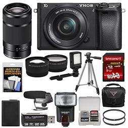 Sony Alpha A6300 4K Wi-Fi Digital Camera & 16-50mm Lens with