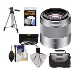Sony Alpha NEX E-Mount 50mm f/1.8 OSS Lens  with 3 UV/FLD/PL