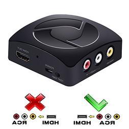 AV to HDMI Converter, Coukou RCA Composite AV CVBS to HDMI A