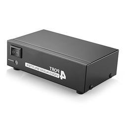 TNP AV Splitter 1 In 4 Out 3 RCA Composite Video L/R Audio S