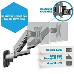 AVLT-Power Aluminum Dual Monitor Gas Spring Wall Mount with