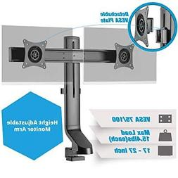 AVLT-Power Dual Monitor Mount with Low Profile Design for Si