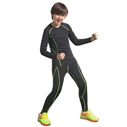 QD-WST Boys & Girls Sports Base Layer Compression Set Long S