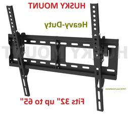 Black Tilt TV  Mount Bracket For 32 40 42 46 50 52 55 60 65