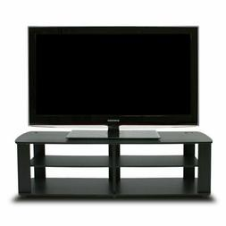 Black Tv Stand Media Entertainment Center 42 50 60 Inch Flat