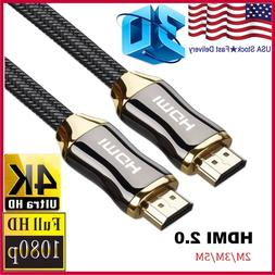 Braided Ultra HD HDMI Cable v2.0 High Speed + Ethernet HDTV