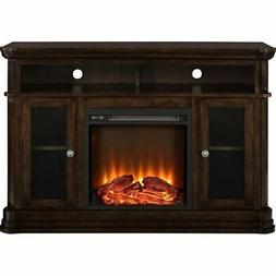 Ameriwood Home Brooklyn Electric Fireplace 50-inch TV Consol