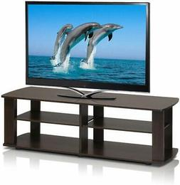 Brown Tv Stand Media Entertainment Center 42 50 Inch 60lb Fl