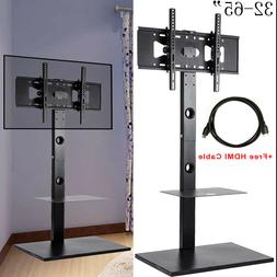 Cantilever TV Stand with Mount Bracket 2 Shelves for 32 - 65
