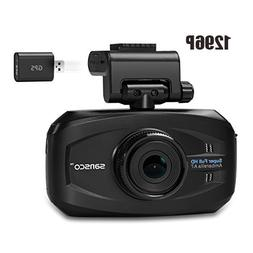 FHD 1296p Car Dash Cam with GPS Tracking, 50% Higher Resolut