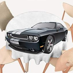 haommhome Cars Wrinkle Free Tablecloths Black Modern Pony Ca