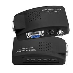 CCTV S-Video/BNC VGA to VGA Video PC Converter Adapter