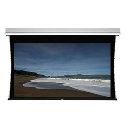Ceiling Recessed Tab-Tensioned Motorized Projection Screen