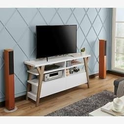 Furniture of America Celeste White/ Light Oak Two-tone 60-in