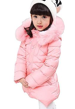 DNggAND Child Kids Girls Winter Warm Jackets Snowsuit Hooded
