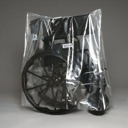 "50"" X 45"" 1 Mil Clear Plastic Wheelchair Covers  - Elkay-BOR"