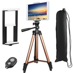 PEYOU Compatible for iPad iPhone Tripod,50 inch Lightweight