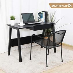 ALPHA HOME Computer Desk with Drawer, Large Office Desk Comp