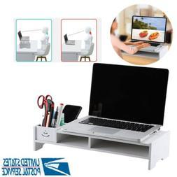 Computer Monitor Riser Desk Table LED TV Stand Shelf Desktop